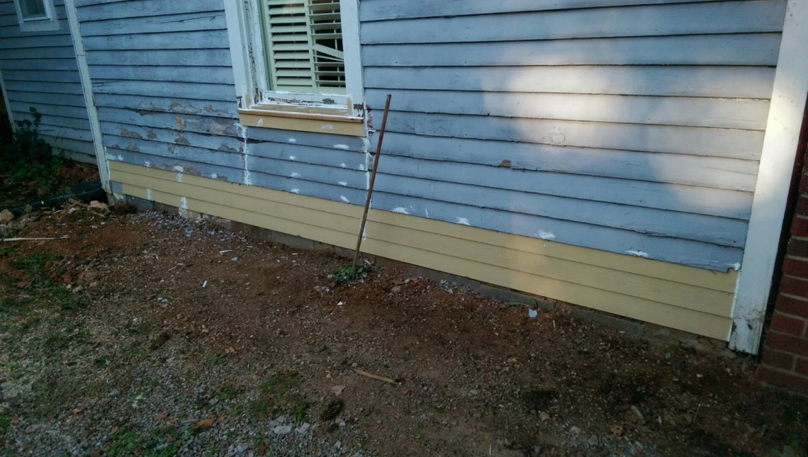 Do You Have Dryrot In Your Exterior Sheathing And/or Siding? This Project  In Morristown, TN Shows An Exposed Mudsill Where The Siding Was Rotting  Away At ...